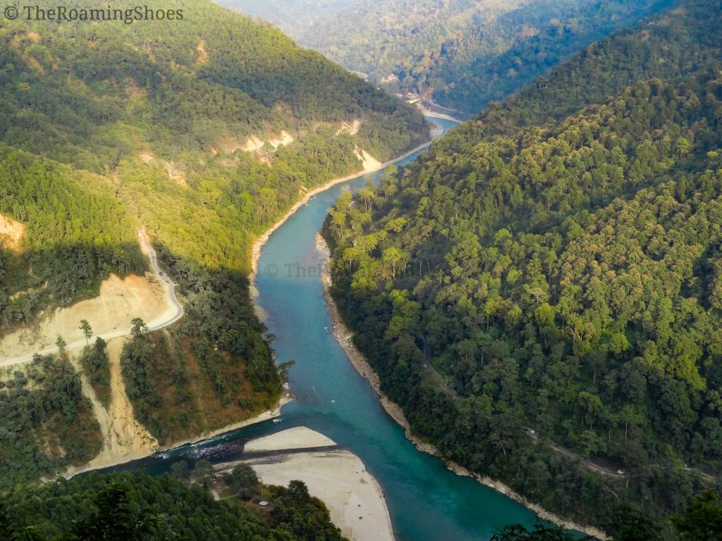 Confluence of Teesta and Rangit rivers