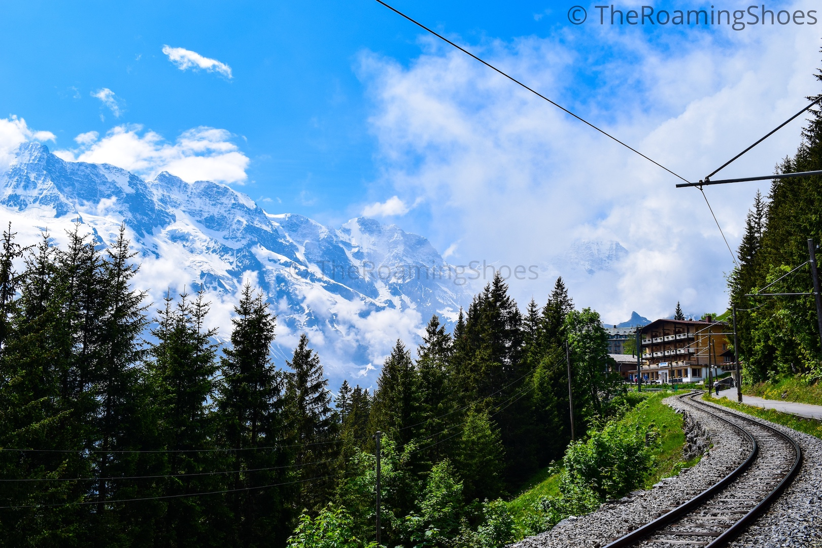 Railway station at Murren
