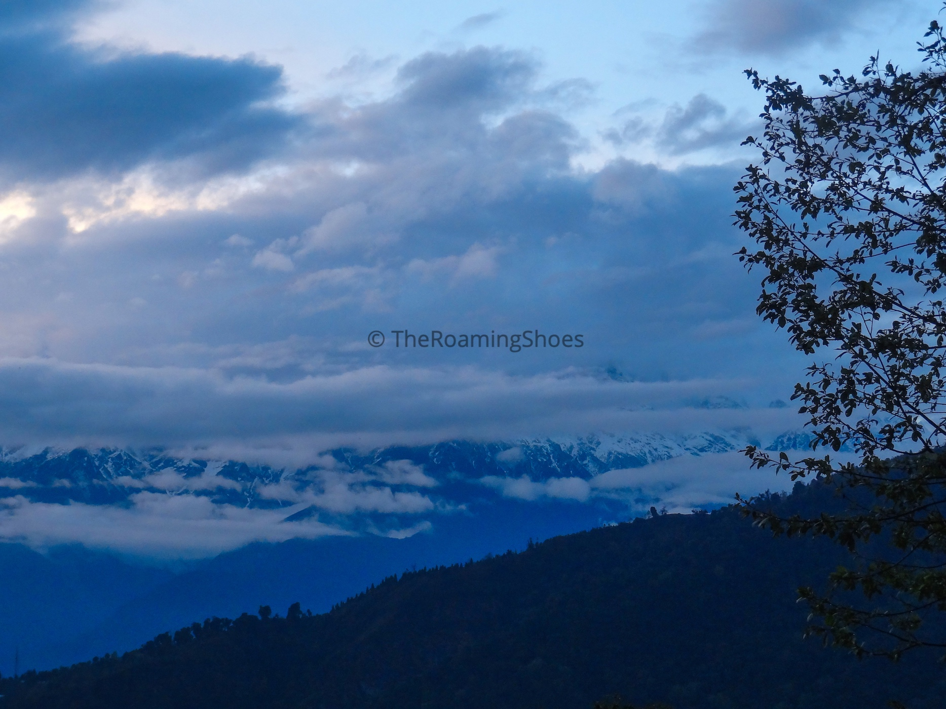 View Of Kanchenjunga in the evening