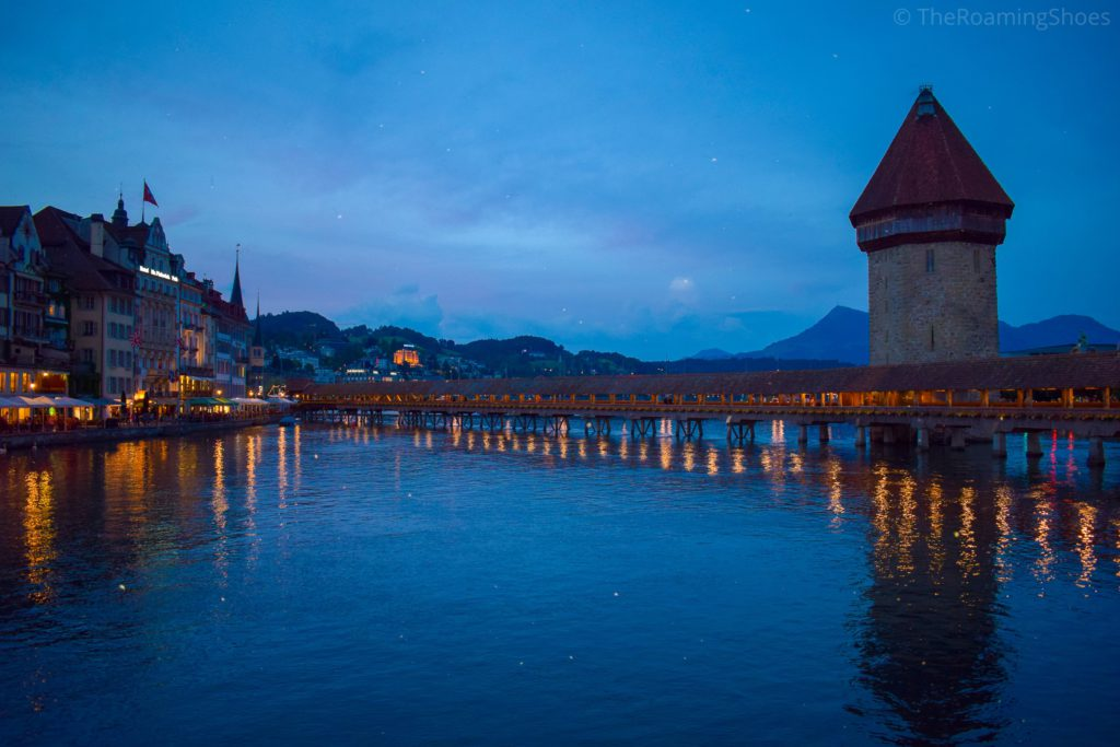 Chappels bridge in evening