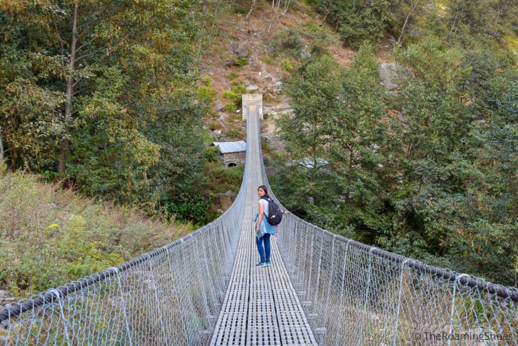 Hanging bridge in Kimche