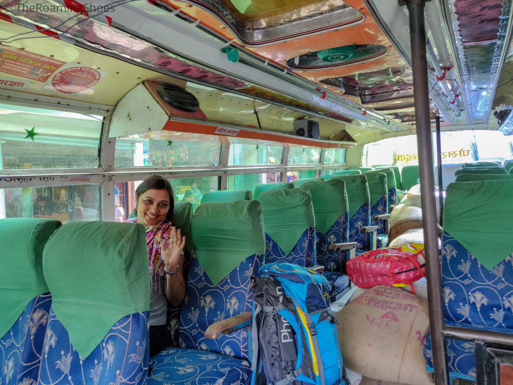 Bus from Pokhara to Ghandruk