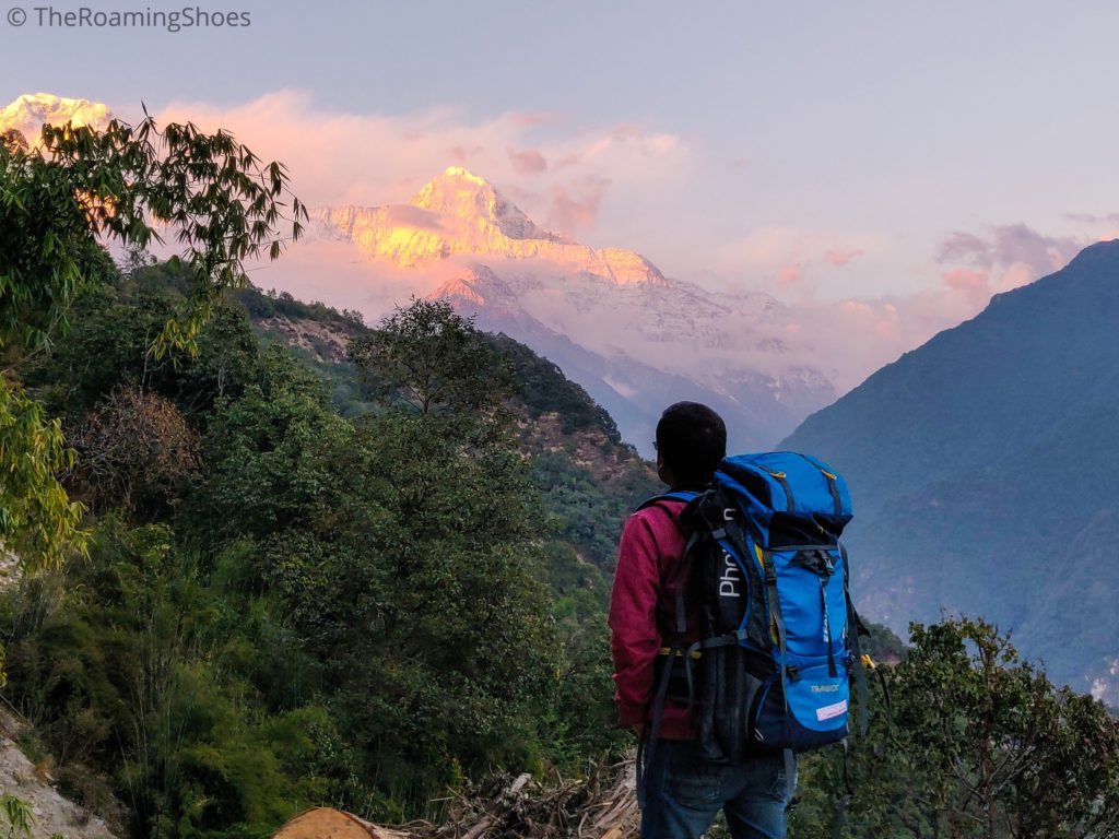Sunset at Ghandruk Village