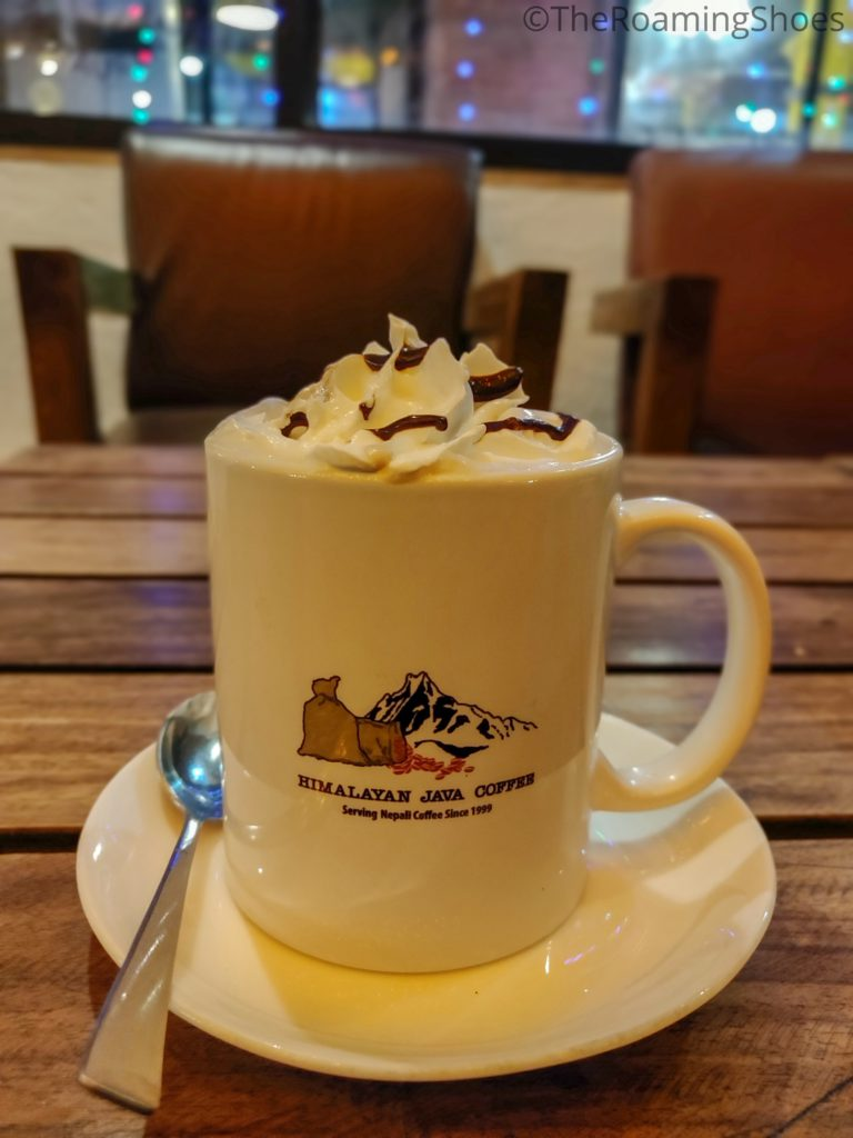 Cafe Mocha at Himalyan Java Coffee