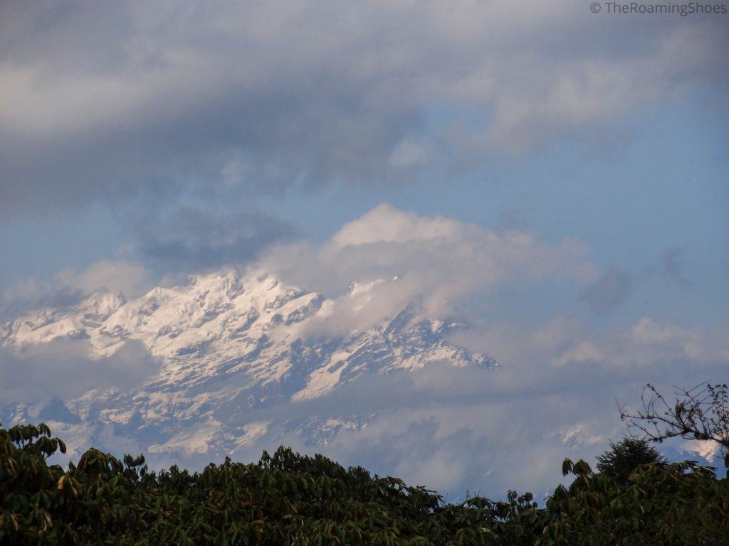 Kanchenjunga shrouded by clouds