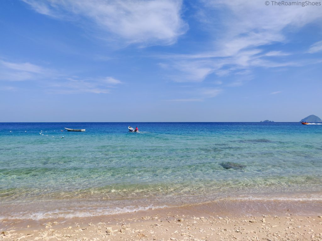 Crystal clear water of Mira Beach